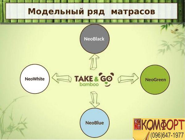 Модельный ряд матрасов Take&Go Bamboo
